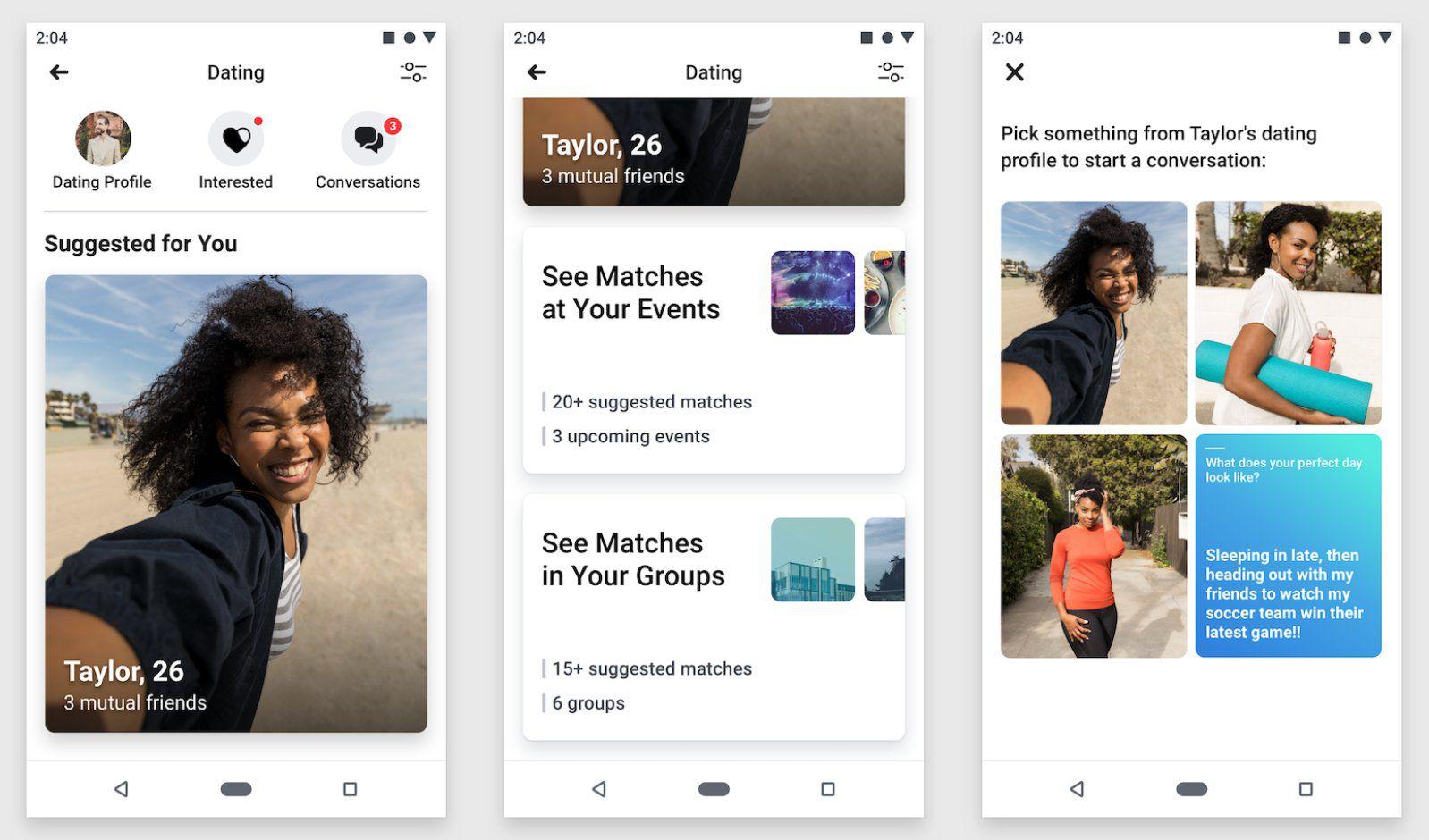 Facebook Rencontres : L'application de dating arrive en France