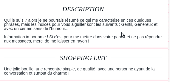 phrase de description site de rencontre rencontre non payant belgique