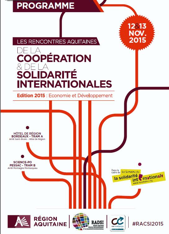 rencontres aquitaines de la coopération et de la solidarité internationales rencontre zoosk facebook