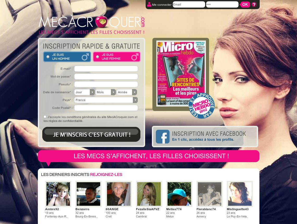 Site de rencontre gratuit pour célibataire - Freemeet