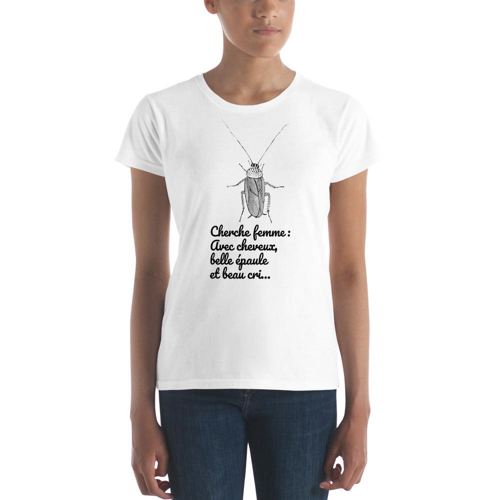cherche tee shirt femme