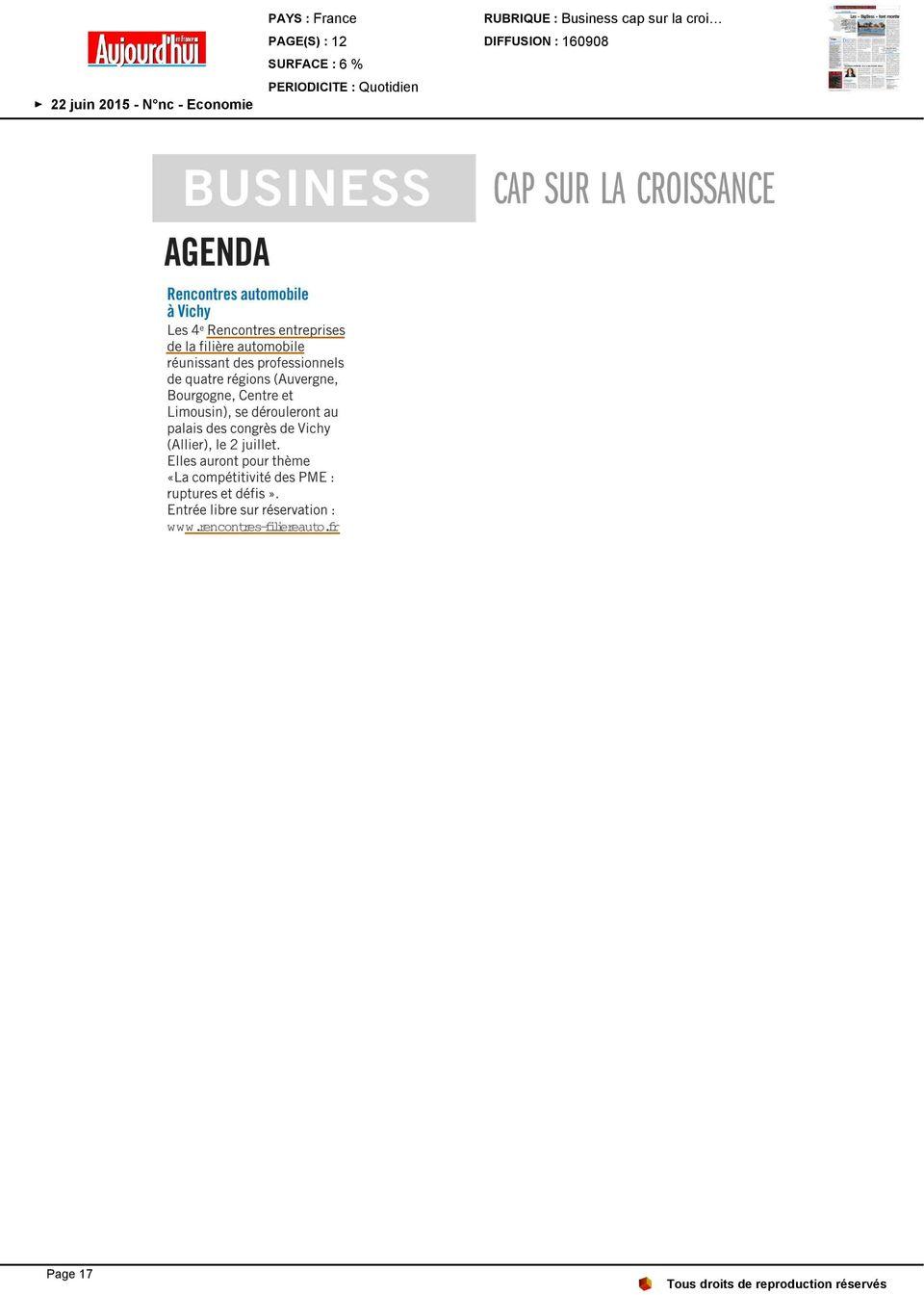 Sont 2es rencontres parlementaires sur la croissance verte