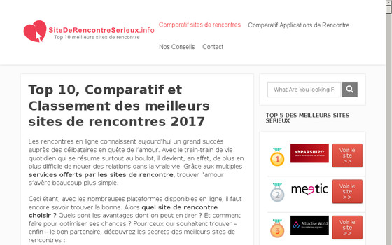 Liste de sites de rencontres en ligne (France)