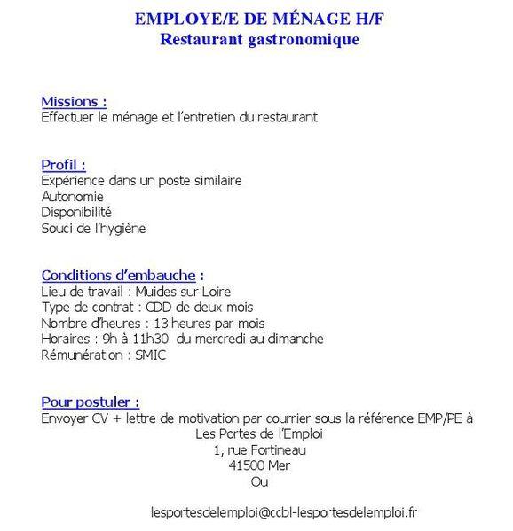 Emplois : Femme Ménage - août | bellememesanscheveux.fr