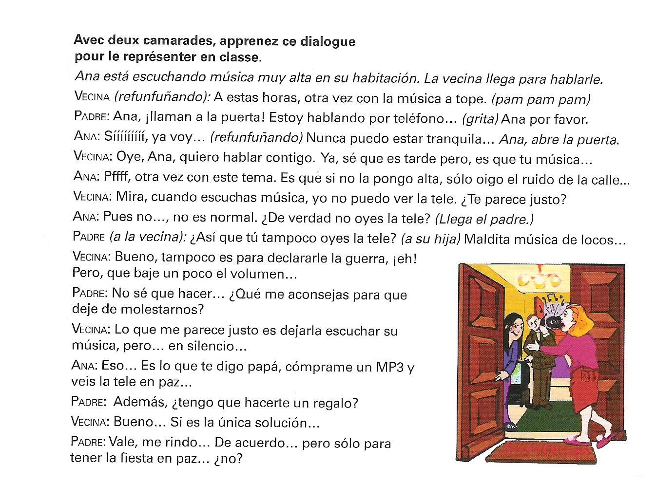 dialogue rencontre en espagnol rencontre homme valenciennes
