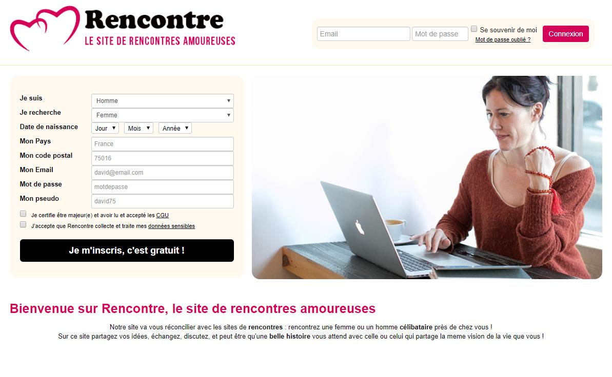 Créer un site de rencontre en ligne.