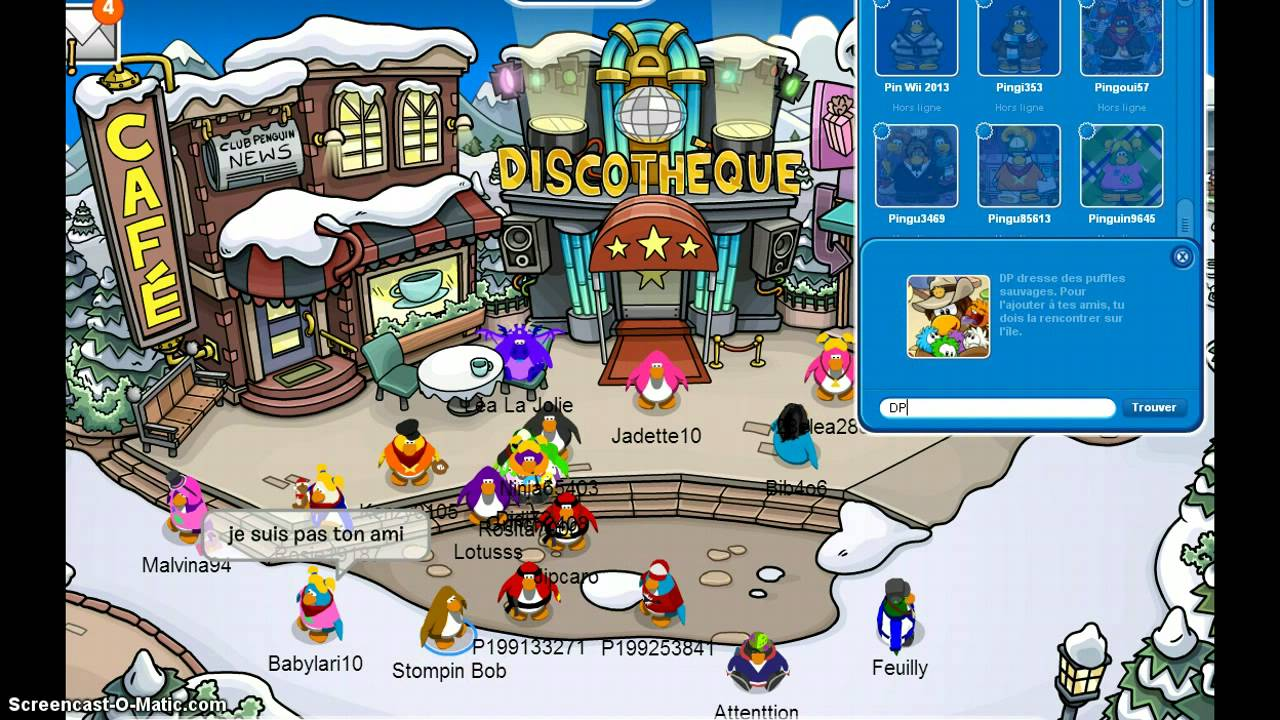 club penguin rencontrer dp meilleur site de rencontre québec