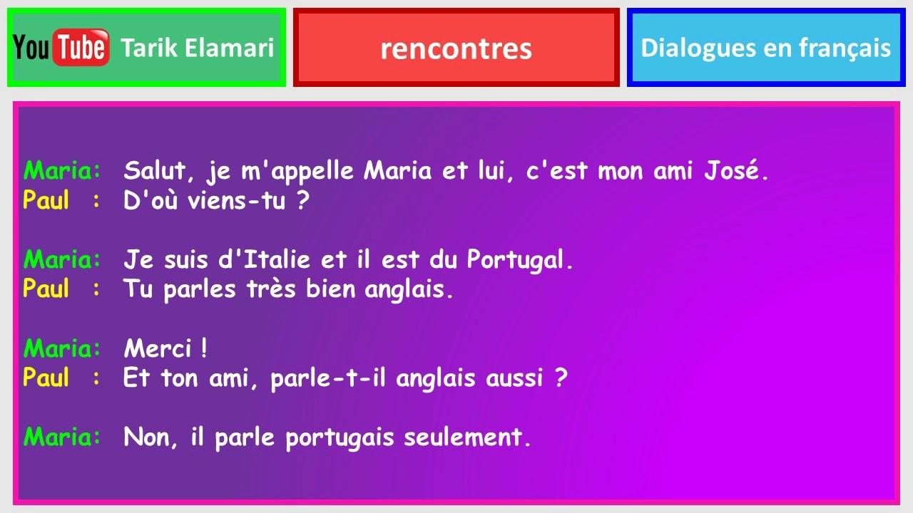 dialogue rencontre anglais