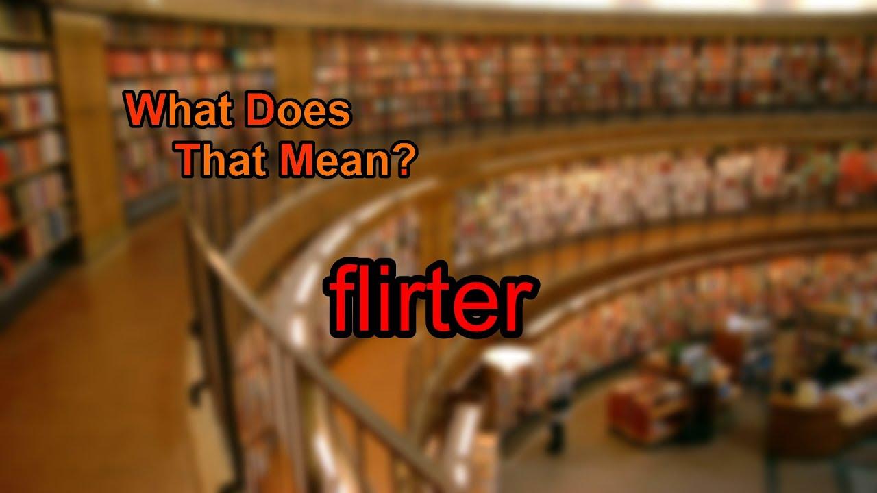 flirter means what