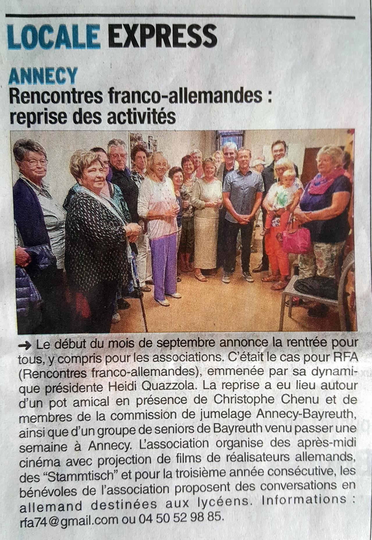 rencontre franco allemande annecy site de rencontre amoureuse a libreville