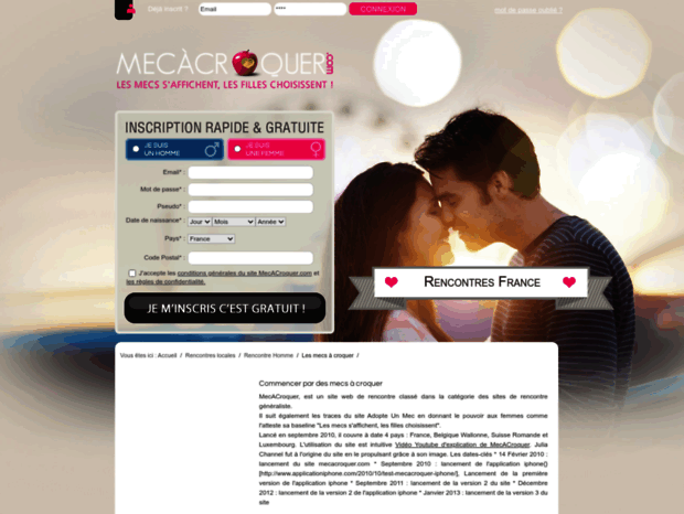 comment trouver un site de rencontre 100 gratuit femme cherche homme mascouche