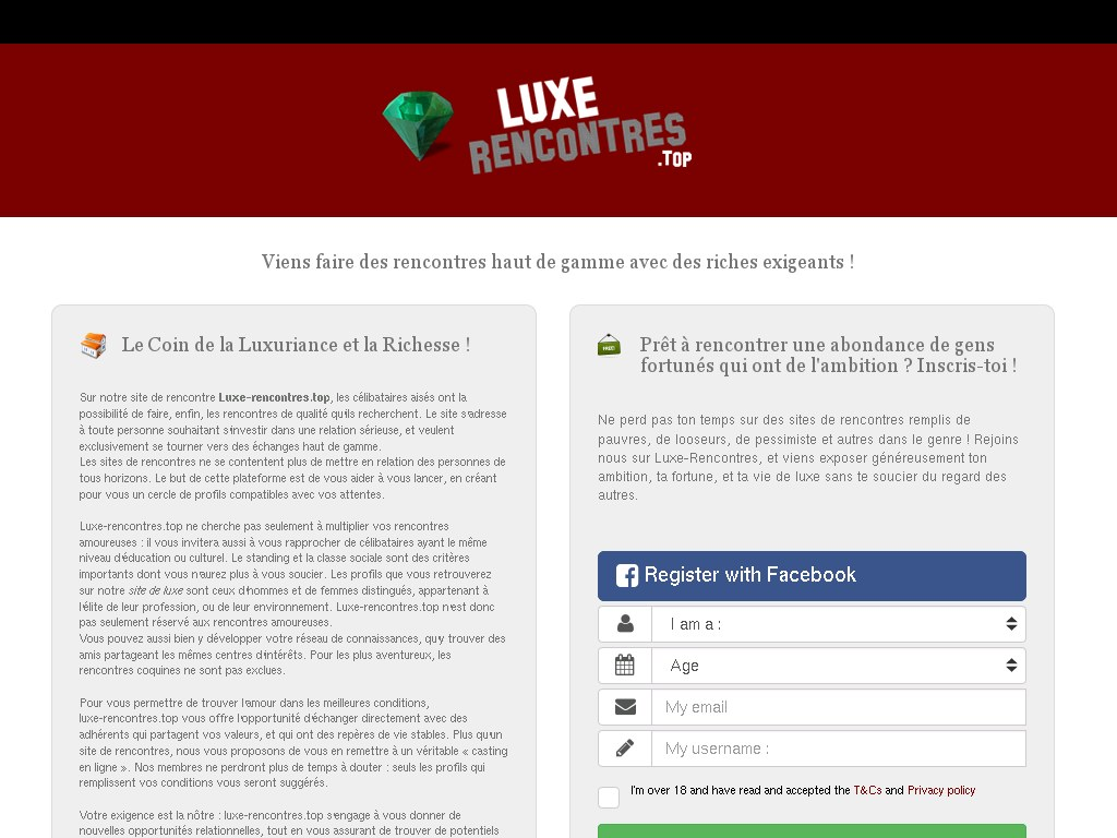 site rencontre luxe
