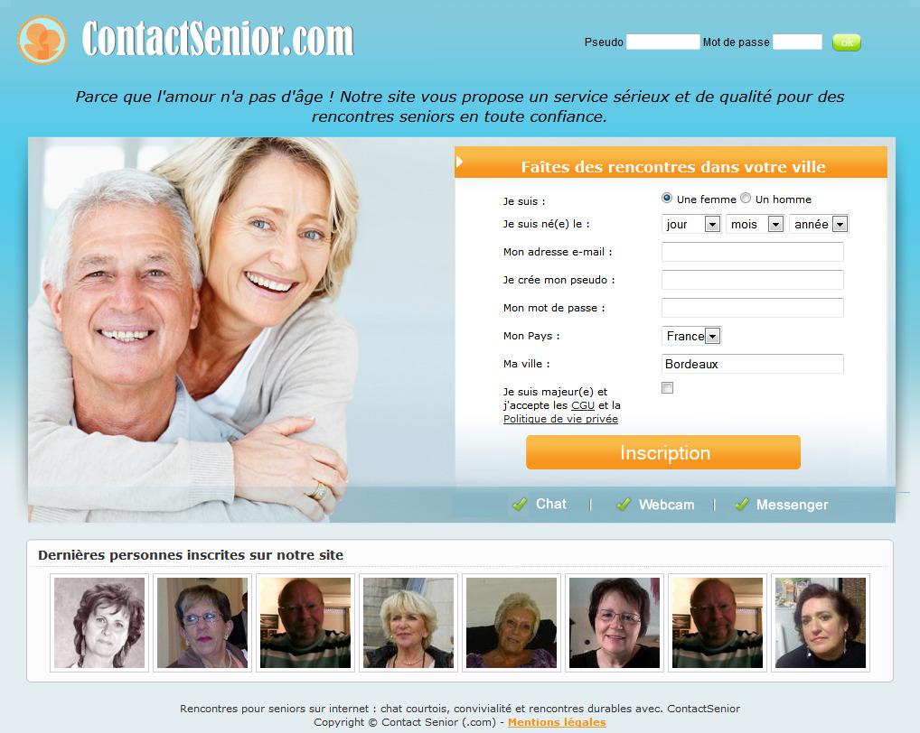 site rencontre pour retraités