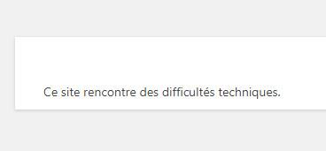ce site rencontre des difficultés techniques. ovh)