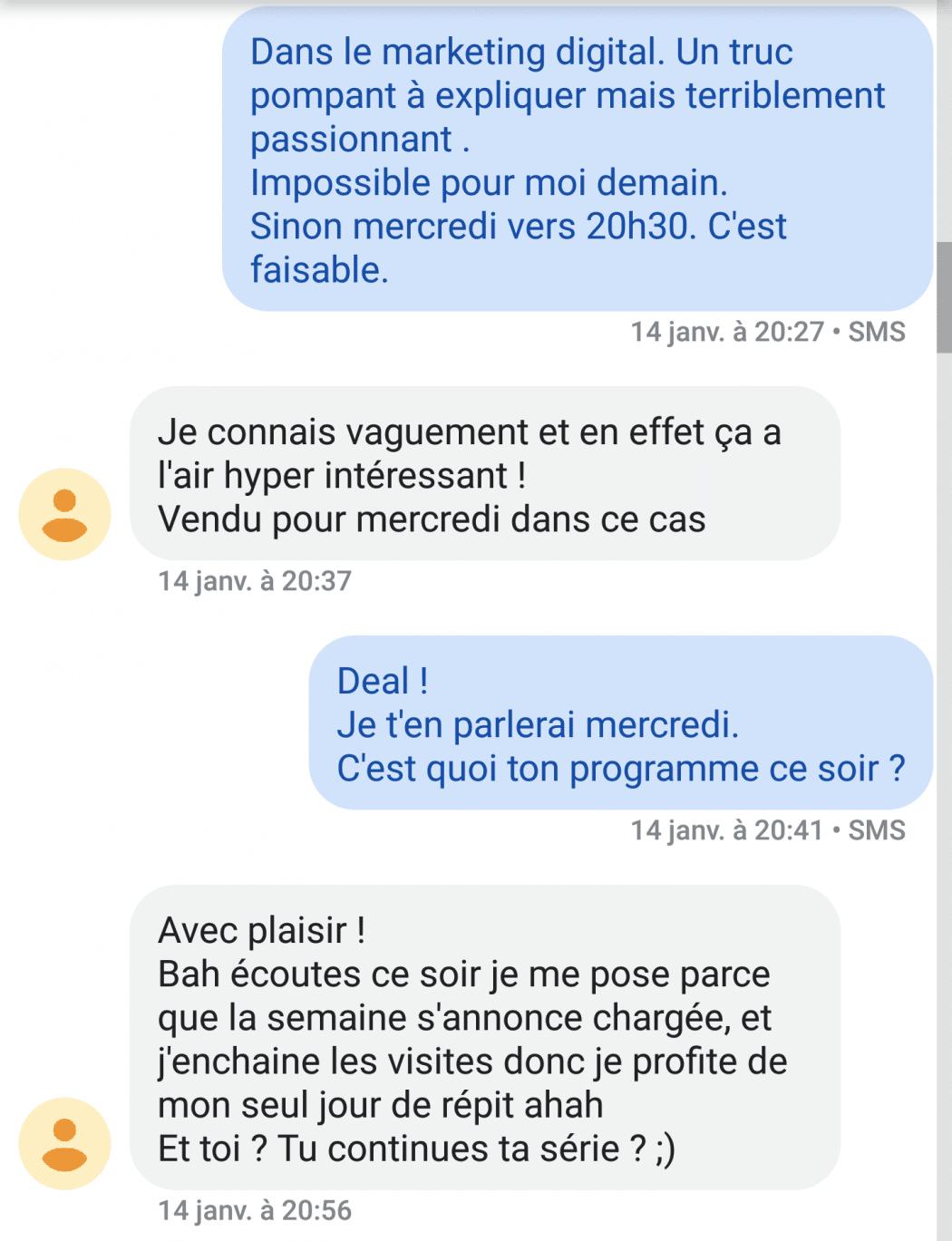 sms de rencontre avec une femme