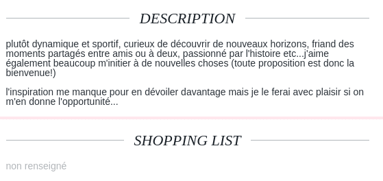description site rencontre exemple