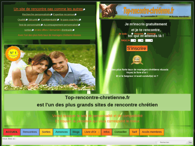 rencontre chrétienne gratuite suisse rencontre femme mariée benin